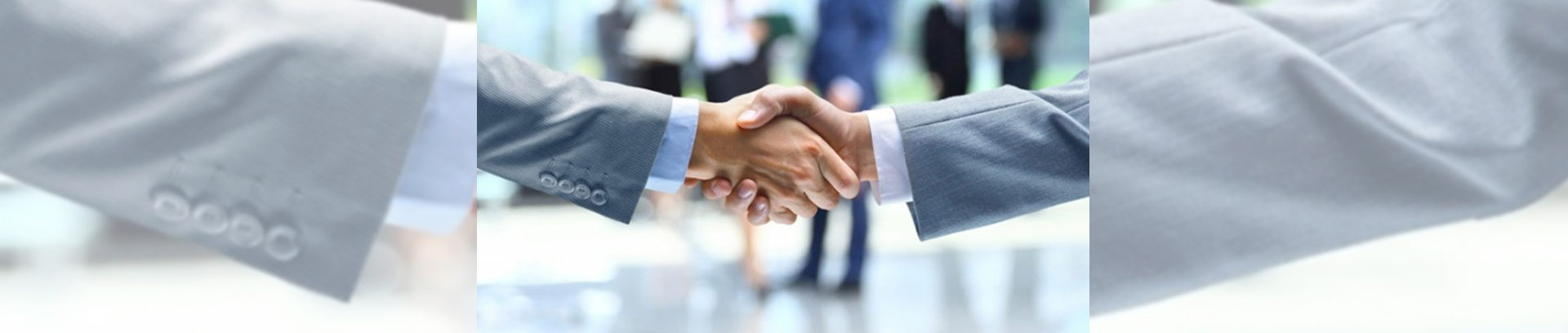 partners shake hands in the medical business